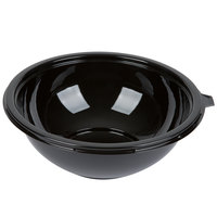 Fineline Super Bowl 5080-BK 80 oz. Black Plastic Bowl - 25 / Case