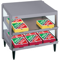 Hatco GRPWS-2418D Gray Granite Glo-Ray 24 inch Double Shelf Pizza Warmer - 960W