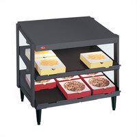 Hatco GRPWS-2418D Gray Granite Glo-Ray 24 inch Double Shelf Pizza Warmer - 960W