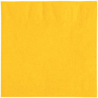 Choice 10 inch x 10 inch Sunny Yellow 2-Ply Customizable Beverage / Cocktail Napkin   - 250/Pack