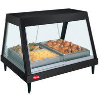 Hatco GRHDH-2P Black Stainless Steel Glo-Ray 33 3/8 inch Full Service Single Shelf Merchandiser with Humidity Chamber
