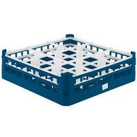 Vollrath 52727 Signature Full-Size Royal Blue 9-Compartment 4 5/16 inch Medium Glass Rack