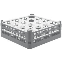 Vollrath 52719 Signature Full-Size Gray 16-Compartment 5 11/16 inch Tall Glass Rack