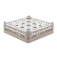 Vollrath 52718 Signature Full-Size Beige 16-Compartment 4 5/16 inch Medium Glass Rack