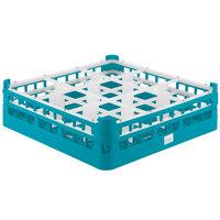 Vollrath 52727 Signature Full-Size Light Blue 9-Compartment 4 5/16 inch Medium Glass Rack