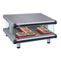 Hatco GR2SDS-60 Gray Granite Glo-Ray Designer 60 inch Slanted Single Shelf Merchandiser - 120V