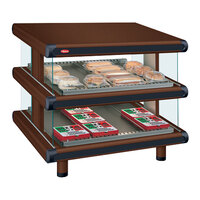 Hatco GR2SDS-60D Antique Copper Glo-Ray Designer 60 inch Slanted Double Shelf Merchandiser