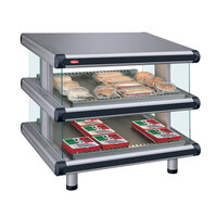 Hatco GR2SDS-54D Gray Granite Glo-Ray Designer 54 inch Slanted Double Shelf Merchandiser