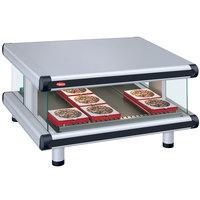 Hatco GR2SDS-48 White Granite Glo-Ray Designer 48 inch Slanted Single Shelf Merchandiser - 120V
