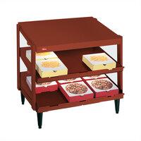 Hatco GRPWS-2418D Antique Copper Glo-Ray 24 inch Double Shelf Pizza Warmer - 960W