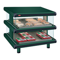 Hatco GR2SDS-42D Hunter Green Glo-Ray Designer 42 inch Slanted Double Shelf Merchandiser