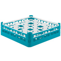 Vollrath 52761 Signature Full-Size Light Blue 9-Compartment 4 13/16 inch Medium Plus Glass Rack