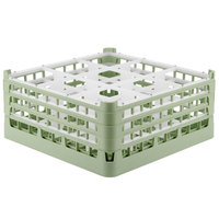 Vollrath 52730 Signature Full-Size Light Green 9-Compartment 7 1/8 inch X-Tall Glass Rack
