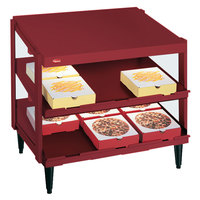 Hatco GRPWS-3624D Wine Red Glo-Ray 36 inch Double Shelf Pizza Warmer - 1800W