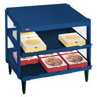 Hatco GRPWS-3624D Navy Blue Glo-Ray 36 inch Double Shelf Pizza Warmer - 1800W