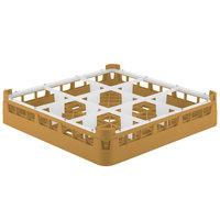 Vollrath 5276055 Signature Full-Size Gold 9-Compartment 3 1/4 inch Short Plus Glass Rack