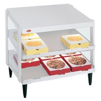 Hatco GRPWS-3624D Granite White Glo-Ray 36 inch Double Shelf Pizza Warmer - 1800W