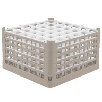Vollrath 52734 Signature Full-Size Beige 36-Compartment 9 15/16 inch XXX-Tall Glass Rack