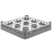 Vollrath 5276066 Signature Full-Size Gray 9-Compartment 3 1/4 inch Short Plus Glass Rack