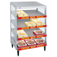 Hatco GRPWS-3618Q Granite White Glo-Ray 36 inch Quadruple Shelf Pizza Warmer - 2880W