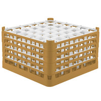 Vollrath 52734 Signature Full-Size Gold 36-Compartment 9 15/16 inch XXX-Tall Glass Rack
