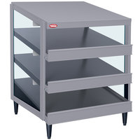 Hatco GRPWS-2424T Granite Gray Glo-Ray 24 inch Triple Shelf Pizza Warmer - 1800W