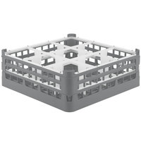 Vollrath 52762 Signature Full-Size Gray 9-Compartment 6 1/4 inch Tall Plus Glass Rack