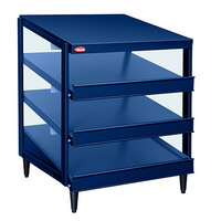 Hatco GRPWS-4824T Navy Blue Glo-Ray 48 inch Triple Shelf Pizza Warmer - 3585W