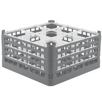 Vollrath 52764 Signature Full-Size Gray 9-Compartment 9 1/16 inch XX-Tall Plus Glass Rack