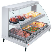 Hatco GRCD-3PD White 45 inch Glo-Ray Full Service Double Shelf Merchandiser - 120V, 1710W