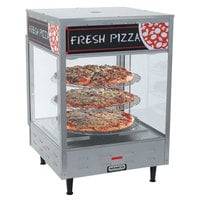 Nemco 6452-2 Double Door Rotating 4-Tier Pizza Merchandiser with 18 inch Racks - 120V