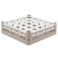 Vollrath 52773 Signature Full-Size Beige 25-Compartment 4 13/16 inch Medium Plus Glass Rack