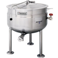 Cleveland KDL-150-F 150 Gallon Stationary Full Steam Jacketed Direct Steam Kettle
