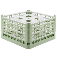 Vollrath 52765 Signature Full-Size Light Green 9-Compartment 10 9/16 inch XXX-Tall Plus Glass Rack