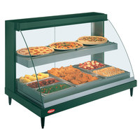 Hatco GRCD-3PD Green 45 inch Glo-Ray Full Service Double Shelf Merchandiser - 120V, 1710W