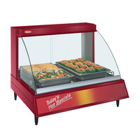 Hatco GRCD-2P Red 32 inch Glo-Ray Full Service Single Shelf Merchandiser - 120V, 780W
