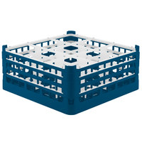 Vollrath 52763 Signature Full-Size Royal Blue 9-Compartment 7 11/16 inch X-Tall Plus Glass Rack