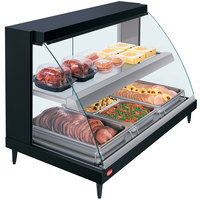 Hatco GRCD-3PD Black 45 inch Glo-Ray Full Service Double Shelf Merchandiser - 120V, 1710W