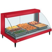Hatco GRCD-3P Red 45 inch Glo-Ray Full Service Single Shelf Merchandiser - 120V, 1005W