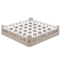 Vollrath 52778 Signature Full-Size Beige 36-Compartment 3 1/4 inch Short Plus Glass Rack
