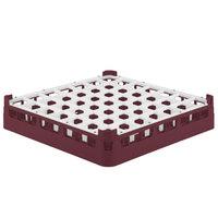Vollrath 52784 Signature Full-Size Burgundy 49-Compartment 3 1/4 inch Short Plus Glass Rack