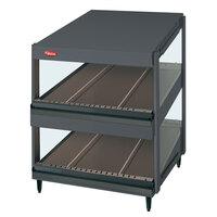 Hatco GRSDS-52D Gray Granite Glo-Ray 52 inch Slanted Double Shelf Merchandiser