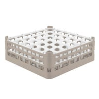 Vollrath 52780 Signature Full-Size Beige 36-Compartment 6 1/4 inch Tall Plus Glass Rack
