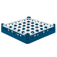 Vollrath 52778 Signature Full-Size Royal Blue 36-Compartment 3 1/4 inch Short Plus Glass Rack