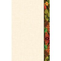 8 1/2 inch x 14 inch Menu Paper - Floral Border Right Insert - 100 / Pack