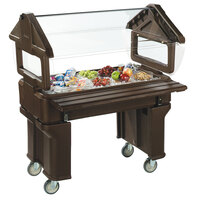 Carlisle 660501 Brown 4' Six Star Open Base Portable Food / Salad Bar