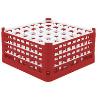 Vollrath 52782 Signature Full-Size Red 36-Compartment 9 1/16 inch XX-Tall Plus Glass Rack