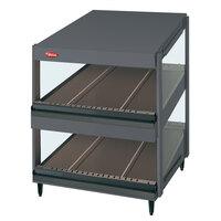 Hatco GRSDS-24D Gray Granite Glo-Ray 24 inch Slanted Double Shelf Merchandiser - 120V