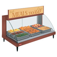 Hatco GRCDH-3P Copper 46 inch Glo-Ray Full Service Single Shelf Merchandiser with Humidity Controls - 1255W