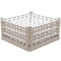 Vollrath 52788 Signature Full-Size Beige 49-Compartment 9 1/16 inch XX-Tall Plus Glass Rack